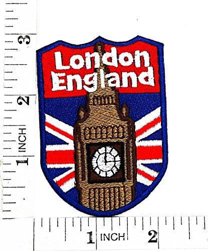 Inglaterra escudo bandera Reino Unido GB británico Londres Cartoon Movie y  para planchar parche bordado a 8300ea31f79d4
