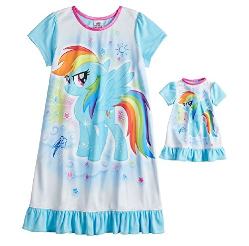 My Little Pony Rainbow Dash Nightgown & Doll Gown Set - Girl