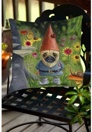Pug Gnome Indoor Outdoor Pillow 18 x 18