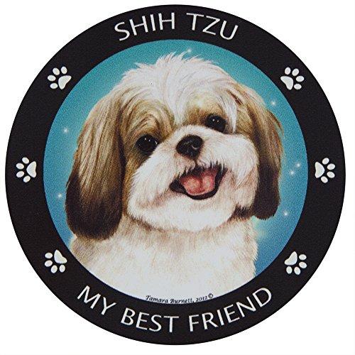 - Gold & White Shih-Tzu My Best Friend Magnet