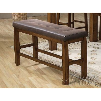 Charmant Morrison Counter Height Storage Bench In Ash Oak Finish