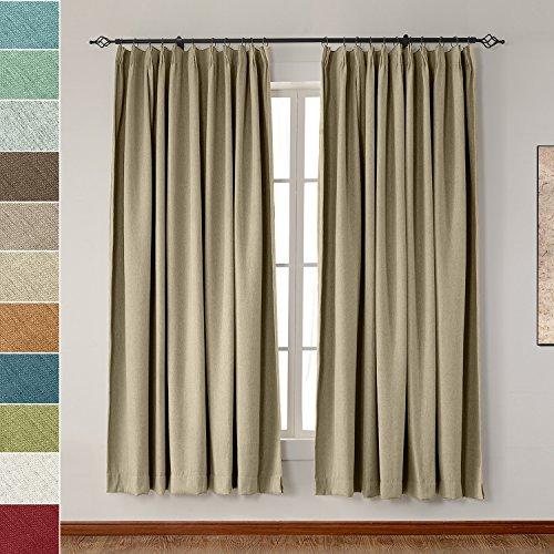 ht Luxury Faux Linen Curtain 120