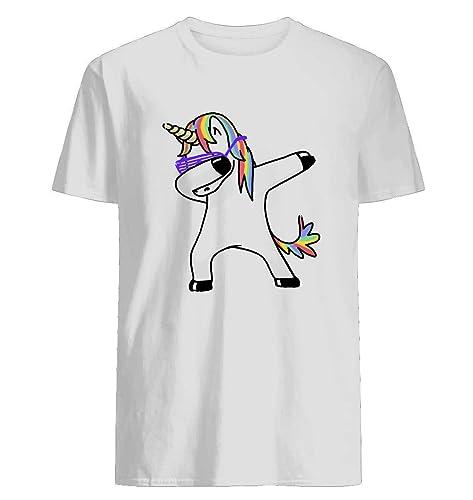 8fada3dc7 Amazon.com: Dabbing Unicorn Shirt Dab Hip Hop Funny Magic Tshirt for Men  Women Gift Mother Father: Handmade