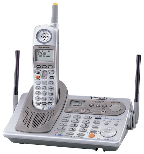 Panasonic KX-TG5471S 5.8 GHz FHSS GigaRange Digital Cordless Phone System with Dual Keypads and Digital Answering System