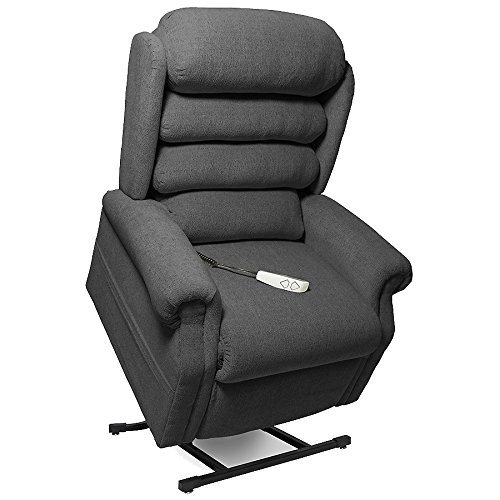 "- NM-1950LT Mega Motion Power Lift Recliner Chair. (Charcoal) Suggested User Height: 5'10"" to 6'6"". Weight Capacity 375 lbs. Free Curbside Delivery"