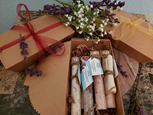 Gift Set of 4 Bath Salts by Five Sisters Bath Co. | Himalayan and Dead Sea Mineral Bath Salts for Soaking | Lavender & Oat, Grapefruit & Mint, Bergamot & Sandalwood, Hawaiian Black Lava Salt & Wild Ro ()