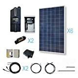 RENOGY 1800W Polycrystalline Cabin Solar Kit: 6 300W Poly Solar Panels (free upgrade to 320W) + 1 Midnite MPPT Controller + 2 Pairs of 40Ft MC4 Adaptor Kits + Combiner Box and 2 Breakers