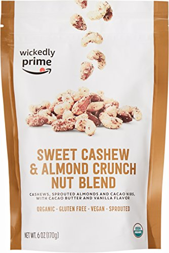 (Wickedly Prime Organic Sprouted Nut Blend, Sweet Cashew & Almond Crunch, 6 Ounce)