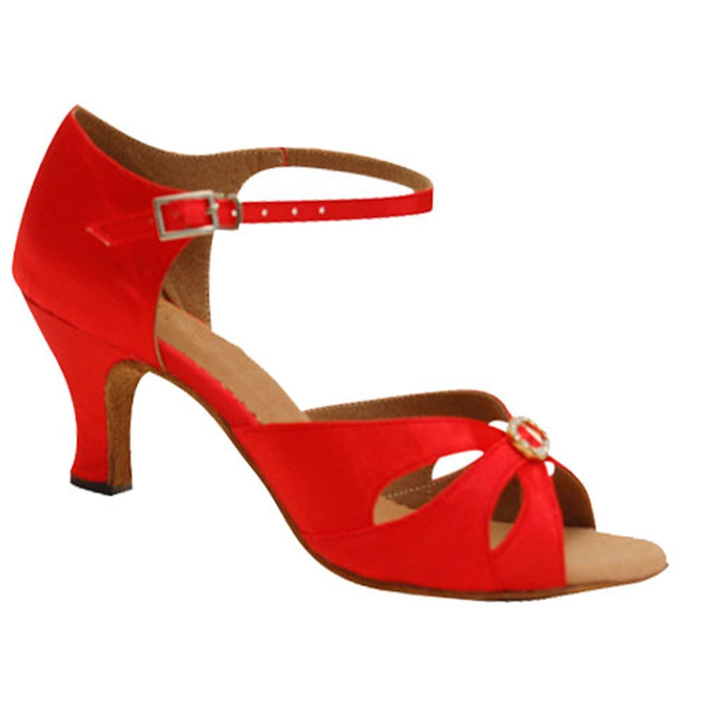 Baile fondo Rojo Latino De Guoshijituan S Social Zapatos Mujer 644YqR