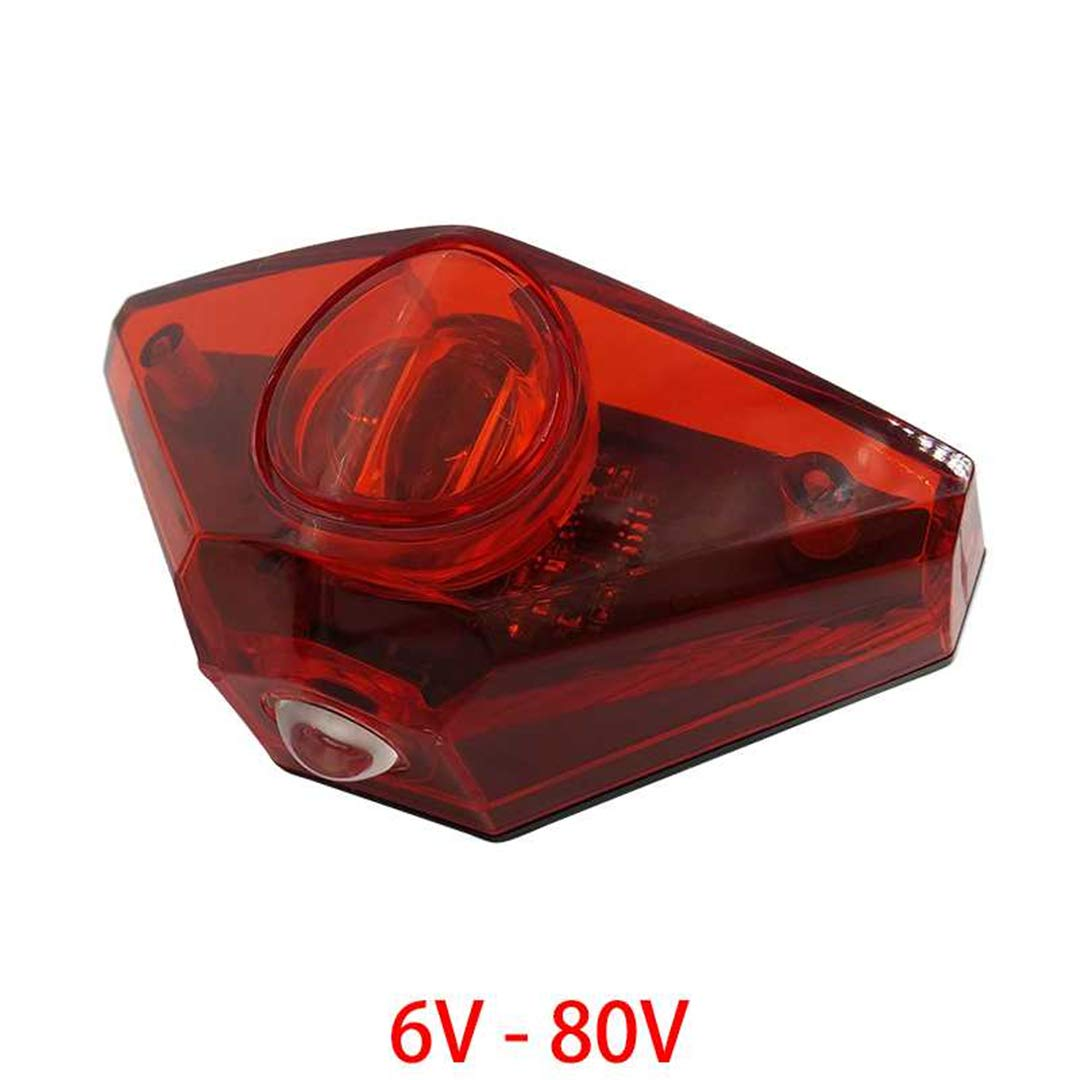 HEALTHLL 6V - 80V 12V 24V 36V 48V 60V 72V Universal E-Bike Headlight Taillight Horn Set Front Light Headlamp Rear Light Taillamp Tail Light by HEALTHLL