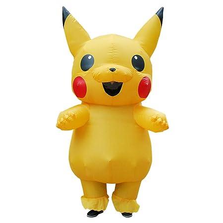 Fancy Dress Fiesta Traje Inflable Encantador Amarillo Pikachu ...