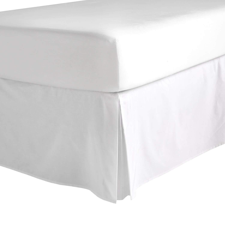 Dormify シンプルなホワイトベッドスカート クイーン B07F27W9DD  クイーン