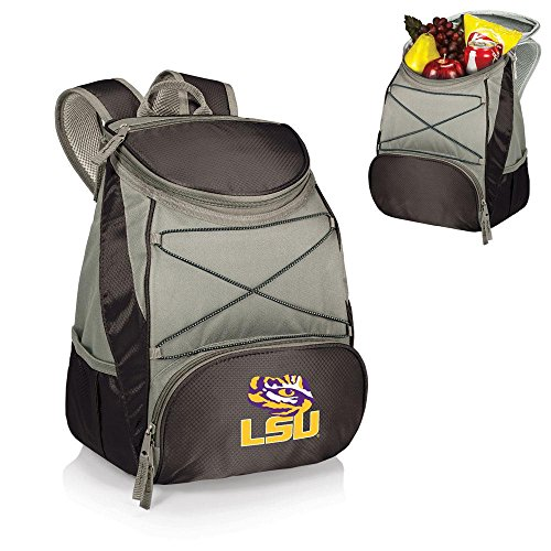 PICNIC TIME NCAA Louisiana State Tigers PTX Insulated Backpack Cooler, Black