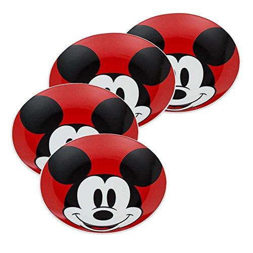 - Vandor Disney Mickey Mouse 4 Piece 8 Inch Ceramic Salad Plate Set (89237)