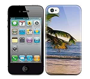 Best Power(Tm) HD Colorful Painted Watercolor S Beach Tropical Beach Susnet Hard Phone Case For Iphone 4/4S