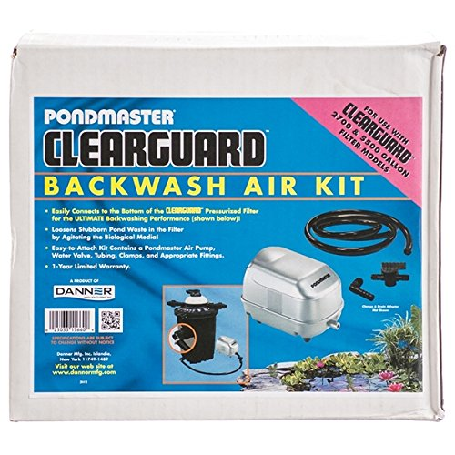 ClearGuard Backwash Air Kit Clearguard Large Air Kit Fits 8,000 and 1 by PondMaster