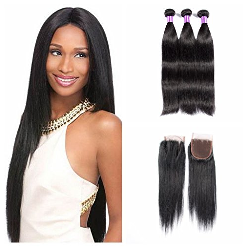 JiSheng-Hair-8A-Mink-Brazilian-Virgin-Hair-Straight-3-Bundles-with-Lace-Closure-100-Unprocessed-Brazilian-Straight-Hair-with-Closure-Human-Hair-Weave-Bundles-Natural-Color-8-26