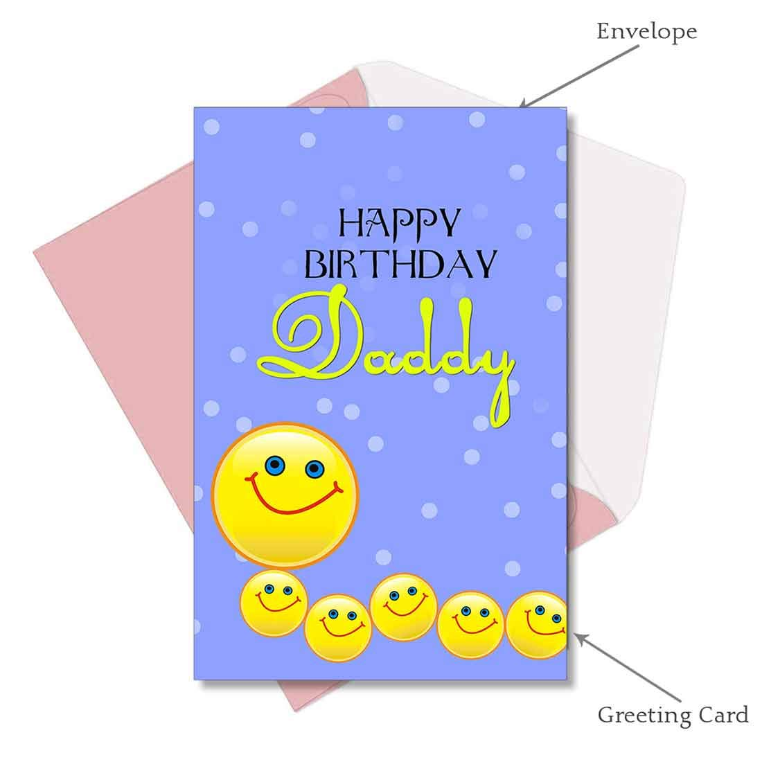 Happy Birthday Daddy Greeting Card Amazon.in Office Products