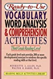 img - for Ready-To-Use Vocabulary, Word Analysis & Comprehension Activities: Third Grade Reading Level (Reading Skills Activities Library) book / textbook / text book