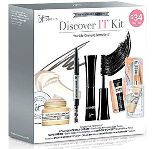 It Cosmetics Discover It 3 Piece Kit Including Confidence in a Cream, Superhero Mascara & Brow Power Brow Pencil - Superhero In Black