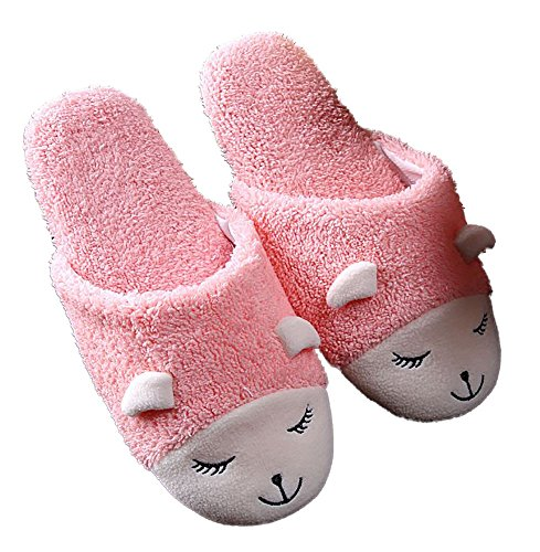 Size Plush Animal Sheep Slippers Pink Fluffy 8 Room Bunny Womens XYdwPxY