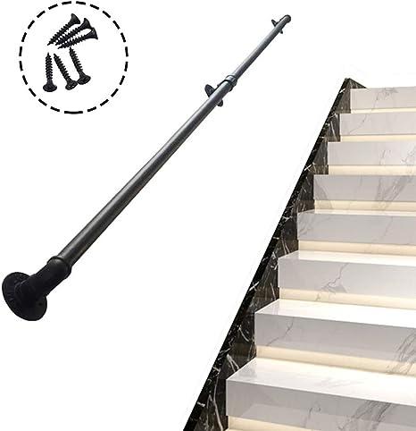 Barandillas industriales for escaleras,barandilla de kit contemporánea 30 ~ 300 cm, barandilla de escalera de tubería de hierro forjado de alta resistencia for uso en interiores o exteriores: Amazon.es: Hogar