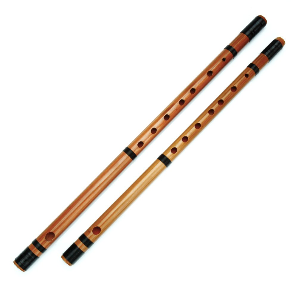 Japanese Bamboo Flute with Black Lines 7/8 Hon Handmade Bamboo Musical Instrument (8 Hon)