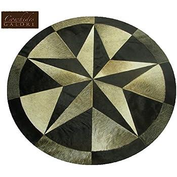 Amazon Com 40 Quot Round Single Star Cowhide Rug Kitchen