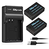 New Upgraded OAproda LP-E17 Battery (2 Pack) and Rapid Micro USB Charger for Canon EOS Rebel T6i, T6s, T7i, SL2, 750D, 760D, 77D , 200D, 8000D, KISS X8i, EOS M3, M5, M6 Digital SLR Camera (Ultra Slim)