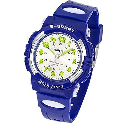 Kids Watch, Child Quartz Wristwatch with for Boys Kids Waterproof Time Teach Watches Rubber Band Analog Quartz Children Sport Outdoor Wrist Watches by Juboos