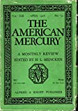 img - for The American Mercury Volume XIII,, No. 52 April, 1928 book / textbook / text book