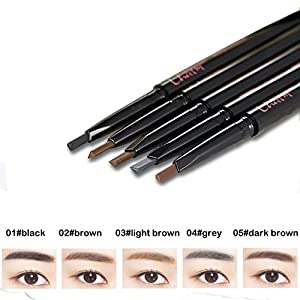 Waterproof Automatic Eyebrow Pencil with Brow Brush Natural Long-lasting Brow Pen 0.25g Brown-2#
