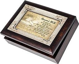 Heavens Walk Bereavement Memory Italian Style Burlwood Finish Decorative Keepsake Jewelry Music Box Plays How Great Thou Art