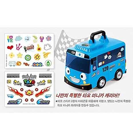TAYO BUS The Little Bus TAYO /& FRIENDS diecast Carrier Car Storage Blue Bus