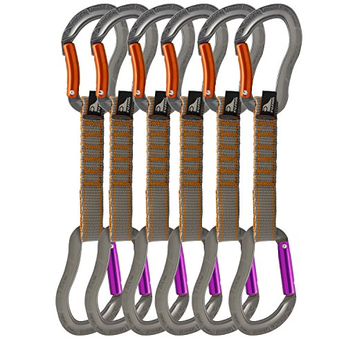 Fusion Quickdraw Set Of 6 Bent Gate/Straight Gate, Orange/Purple by Fusion