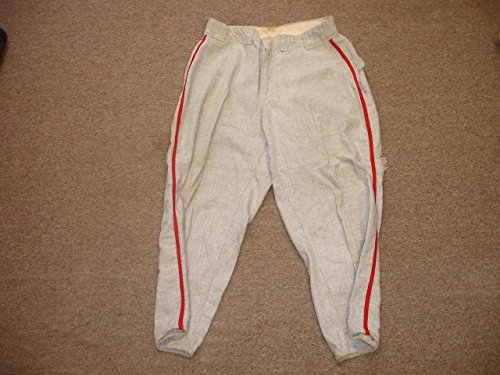 circa 1950's/1960's Cardinals Game Used Road Flannel Baseball Pants-size 34 - MLB Game Used Baseballs Road Flannel