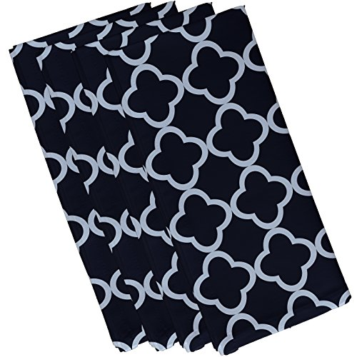 E By Design Marrakech Express Geometric Print Napkin, 19'' by 19'', Bewitching by E by design