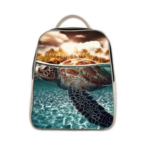 2015 New Arrival Novel Design Excellent Children Backpacks With Sea Turtle Theme,PU Leather school backpacks by Sea Turtle Kids Backpacks