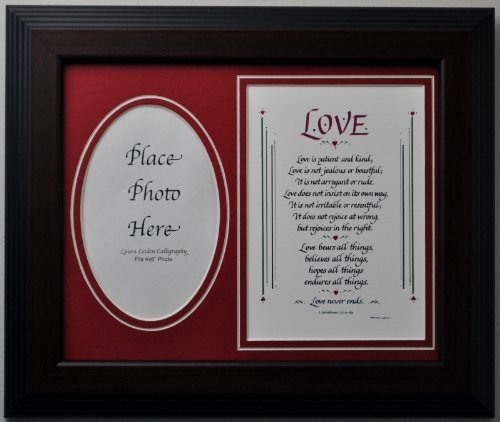 Love Is Patient Picture Frame 8x10 Taupe Gift Poem Chapte...
