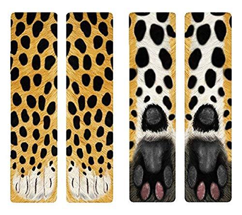(3D Socks Unisex Adult Big Kids Animal Paw Crew Socks - Sublimated Print)