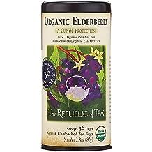 The Republic Of Tea Organic Elderberry Herbal Tea, 36 Tea Bag Tin
