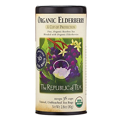 The Republic of Tea Organic Elderberry Herbal Tea, 36 Tea Bag Tin