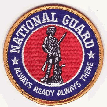 - National Guard iron-on embroidered patch