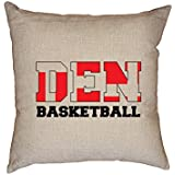 fan products of Hollywood Thread Denmark Basketball - Olympic Games - Rio - Flag Decorative Linen Throw Cushion Pillow Case with Insert