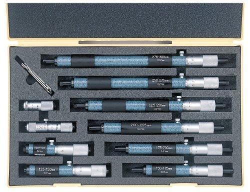 (Mitutoyo 133-902 Tubular Vernier Inside Micrometer, 50-300mm Range, 0.01mm Graduation, +/-0.006mm Accuracy (10 Piece Set))