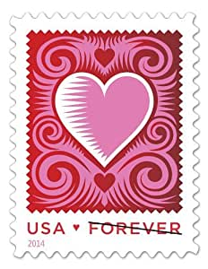 Amazon cut paper heart redwhitepink stamps romantic love greeting cards m4hsunfo