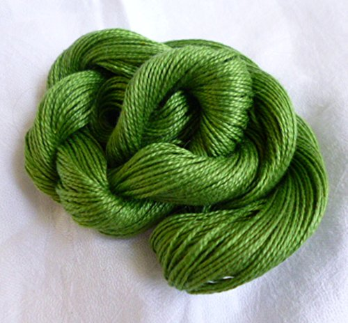 Mercerized 100% Cotton Spring Green Knitting Crochet Yarn Thread Crystal Nylon Yarn