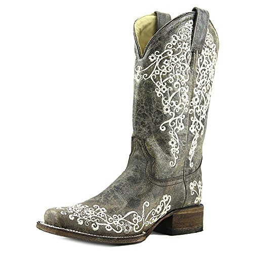 Corral Women's A2663 Crater Embroidery Brown Fashion Boots 8.5 M