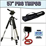 "Deluxe 57"" Camera Tripod with Carrying Case For The Kodak Zi8 Video Camera"