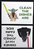 CLEAN / DIRTY Star Wars LEGOs - Dishwasher Magnet. Yoda Vader LEGO MiniFigure